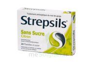 STREPSILS CITRON SANS SUCRE, pastille édulcorée à l'isomalt, au maltitol et à la saccharine sodique à ANNECY