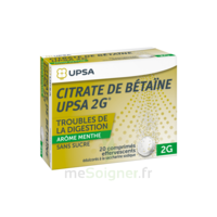 Citrate de Bétaïne UPSA 2 g Comprimés effervescents sans sucre menthe édulcoré à la saccharine sodique T/20 à ANNECY