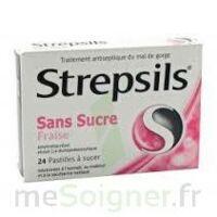 STREPSILS FRAISE SANS SUCRE, pastille édulcorée à l'isomalt, au maltitol et à la saccharine sodique à ANNECY