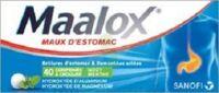 MAALOX HYDROXYDE D'ALUMINIUM/HYDROXYDE DE MAGNESIUM 400 mg/400 mg Cpr à croquer maux d'estomac Plq/40 à ANNECY