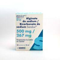 ALGINATE DE SODIUM/BICARBONATE DE SODIUM SANDOZ 500 mg/267 mg, suspension buvable en sachet à ANNECY