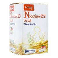 Nicotine Eg 4 Mg Gomme à Mâcher Médicamenteuse Sans Sucre Fruit édulcorée à L'acésulfame Potassique Et Saccharine Plq/108 à ANNECY
